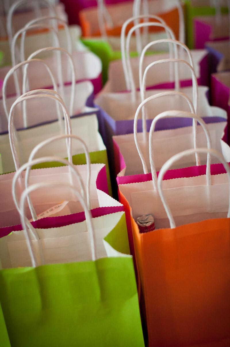 Neon Gift Bags