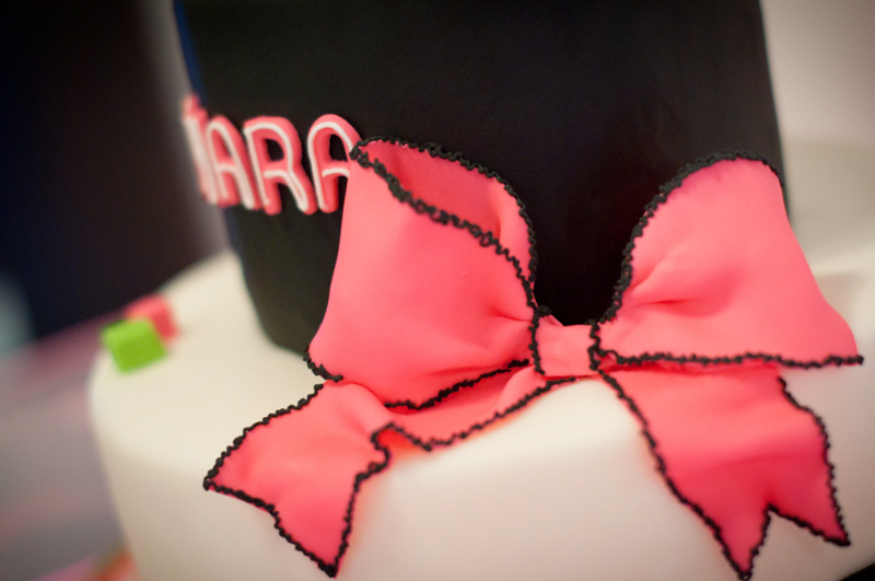 Pink Bow on Cake