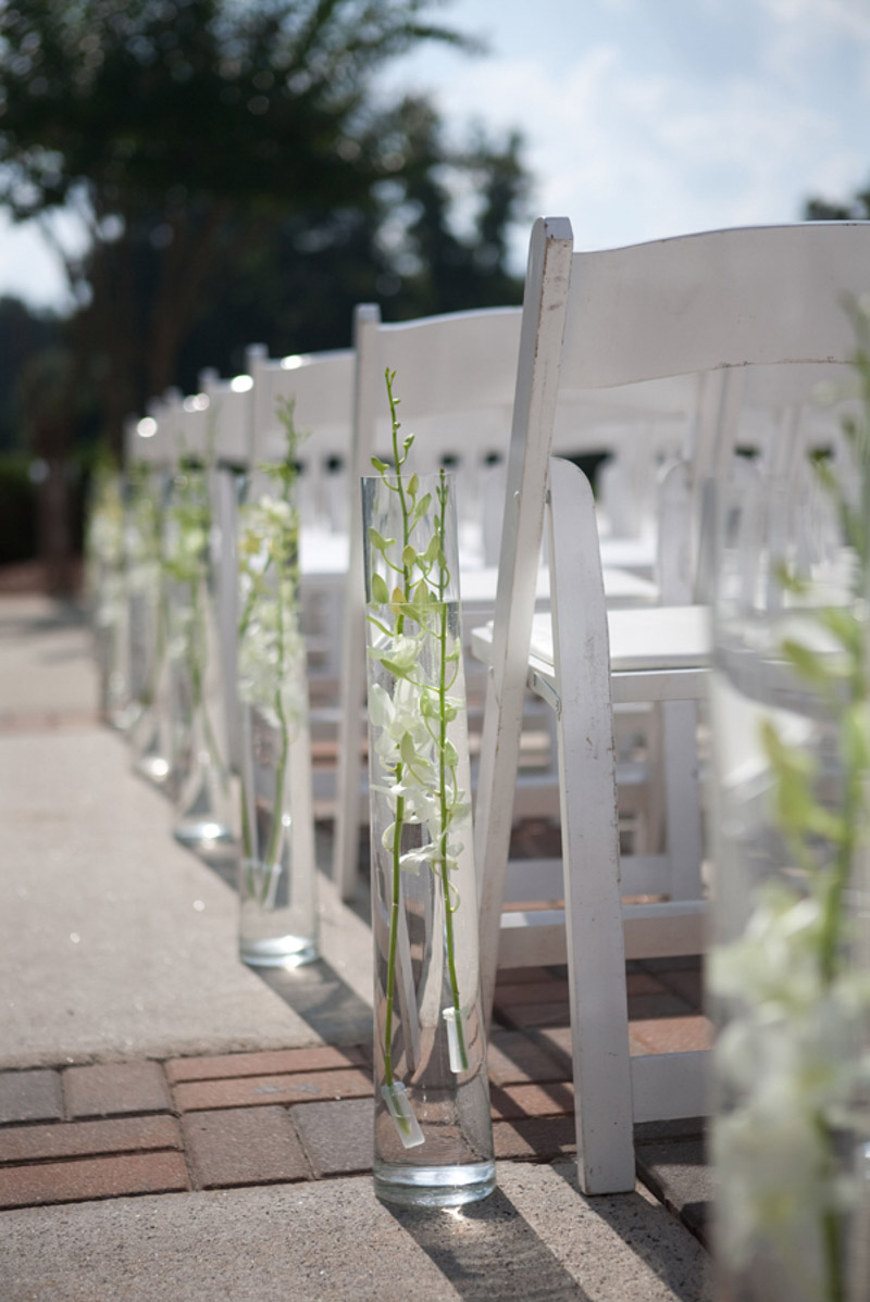 Tall Vase Next to Ceremony Seating