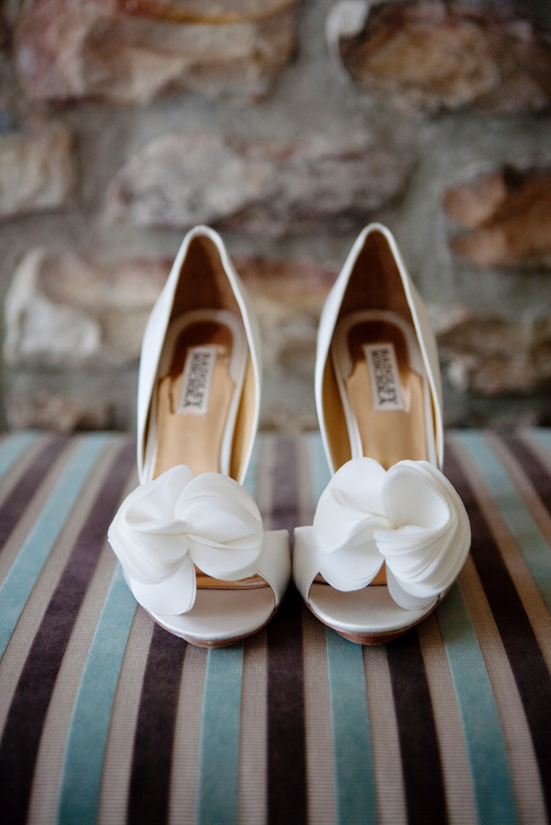 White Floral Shoes_