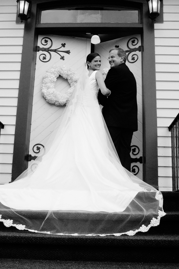 Bride & Father Walking into Church 2