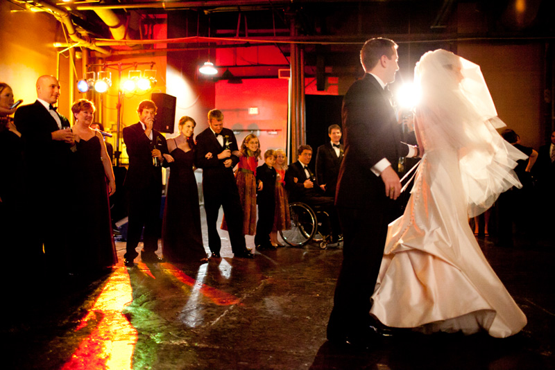 Groom Twirling Bride on Dance Floor