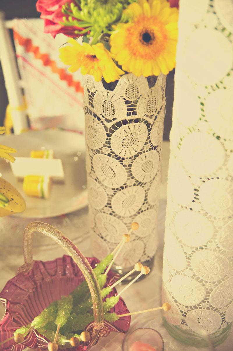 Lace Vase Detailing_