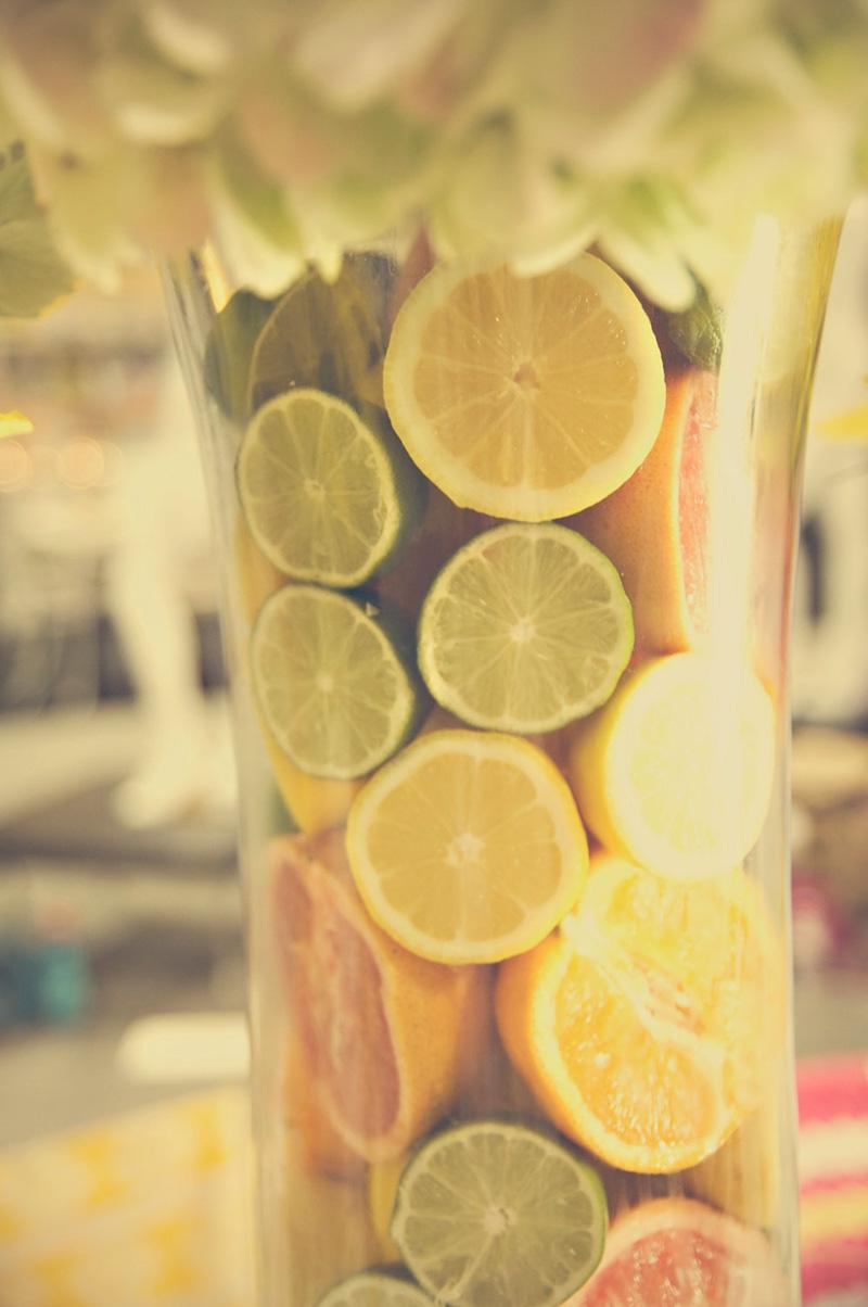 Lemon & Lime Filled Vase