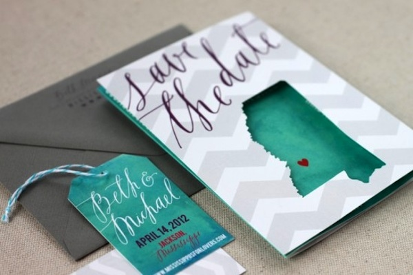 beth-michaels-chevron-stripe-calligraphy-save-the-dates
