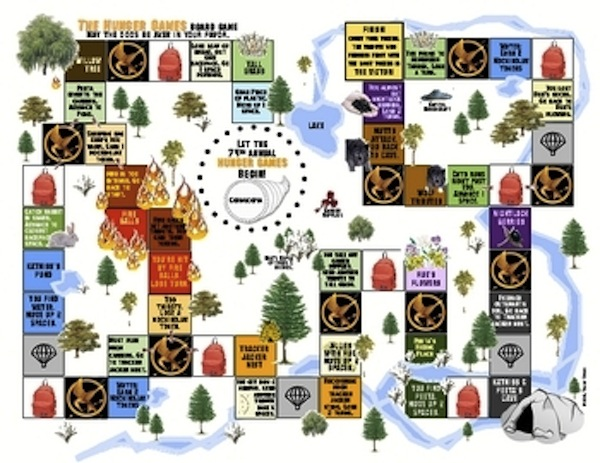Hunger Games Arena Map Board Game Review Activity Project
