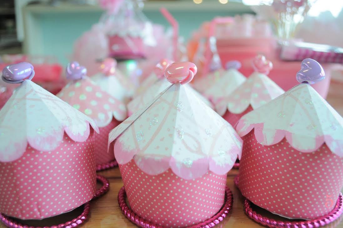 Cupcake Box Pink Dots The Celebration Society