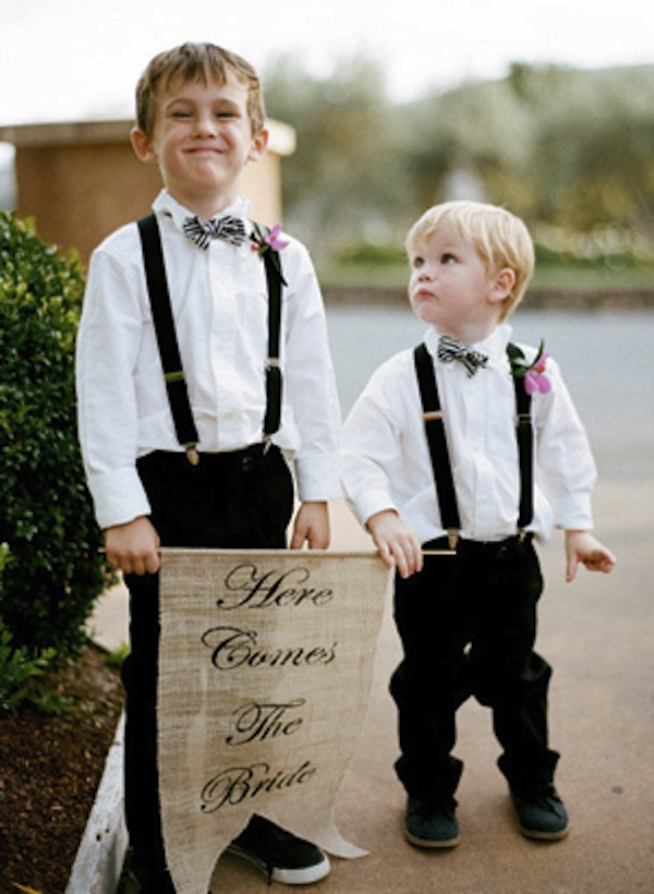 Southern Weddings Bow Ties On Ring Bearers