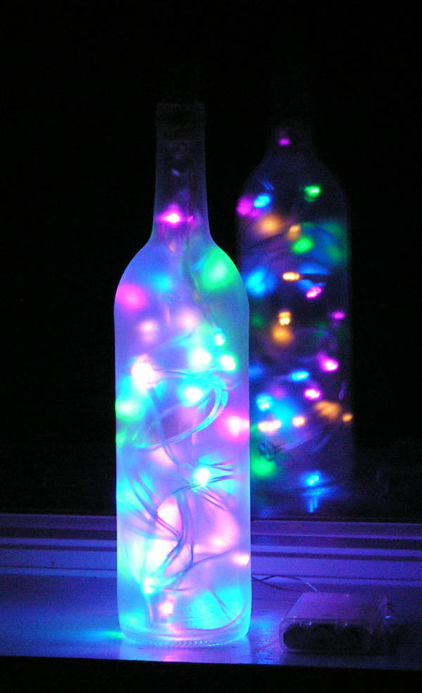 Decorative Wine Bottles Lights Gorgeous Winebottleslights  The Celebration Society Design Decoration