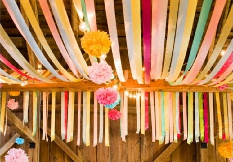 ceiling-streamers. From Crepe Paper Decorations & ceiling-streamers - The Celebration Society