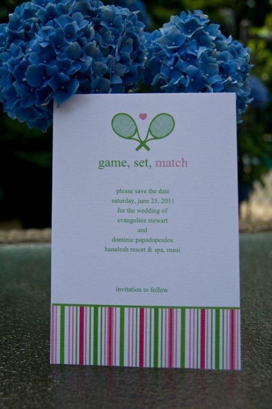 Tennis Invitation The Celebration Society