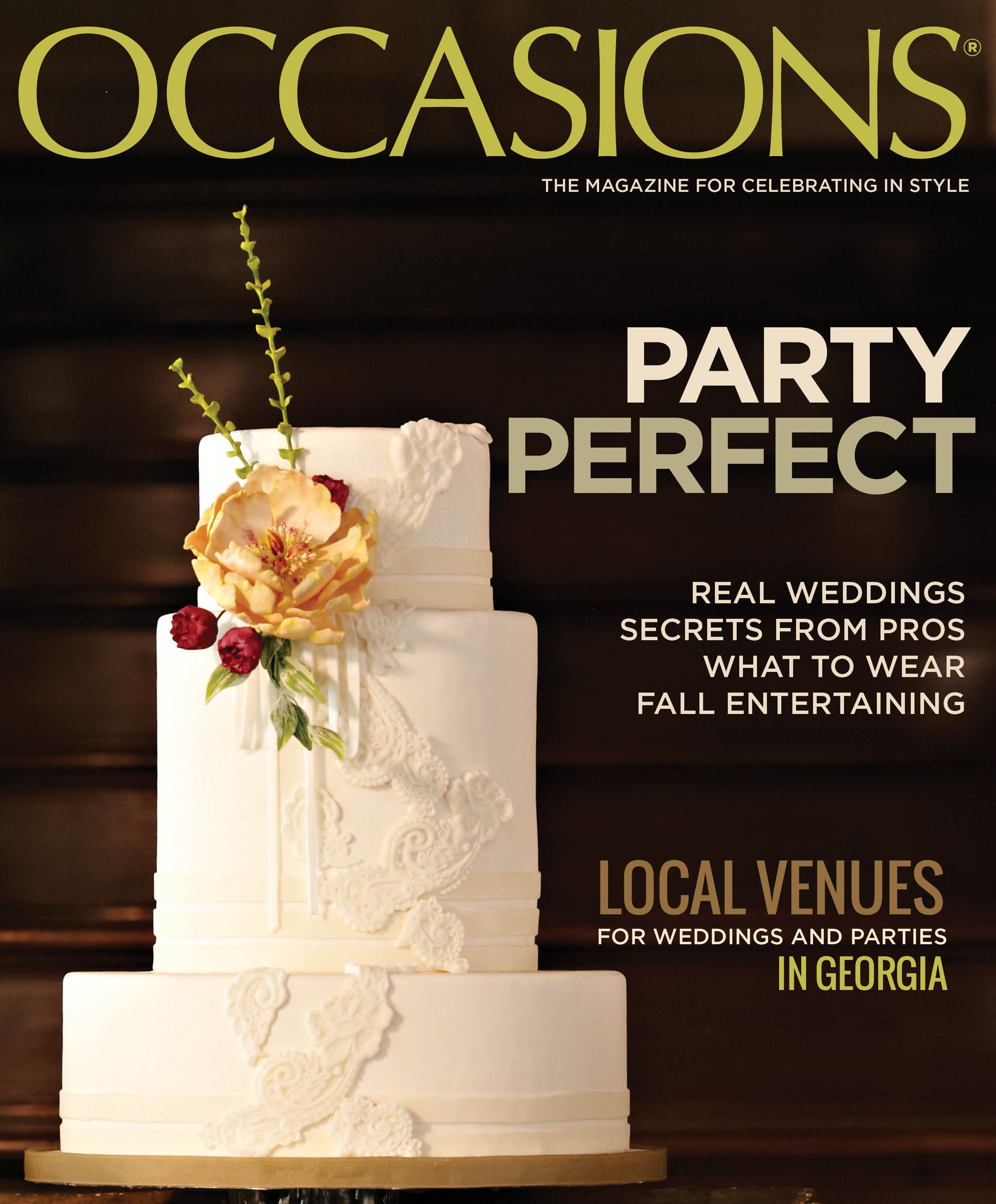 Fall 2012 Occasions Magazine Cover Reveal!