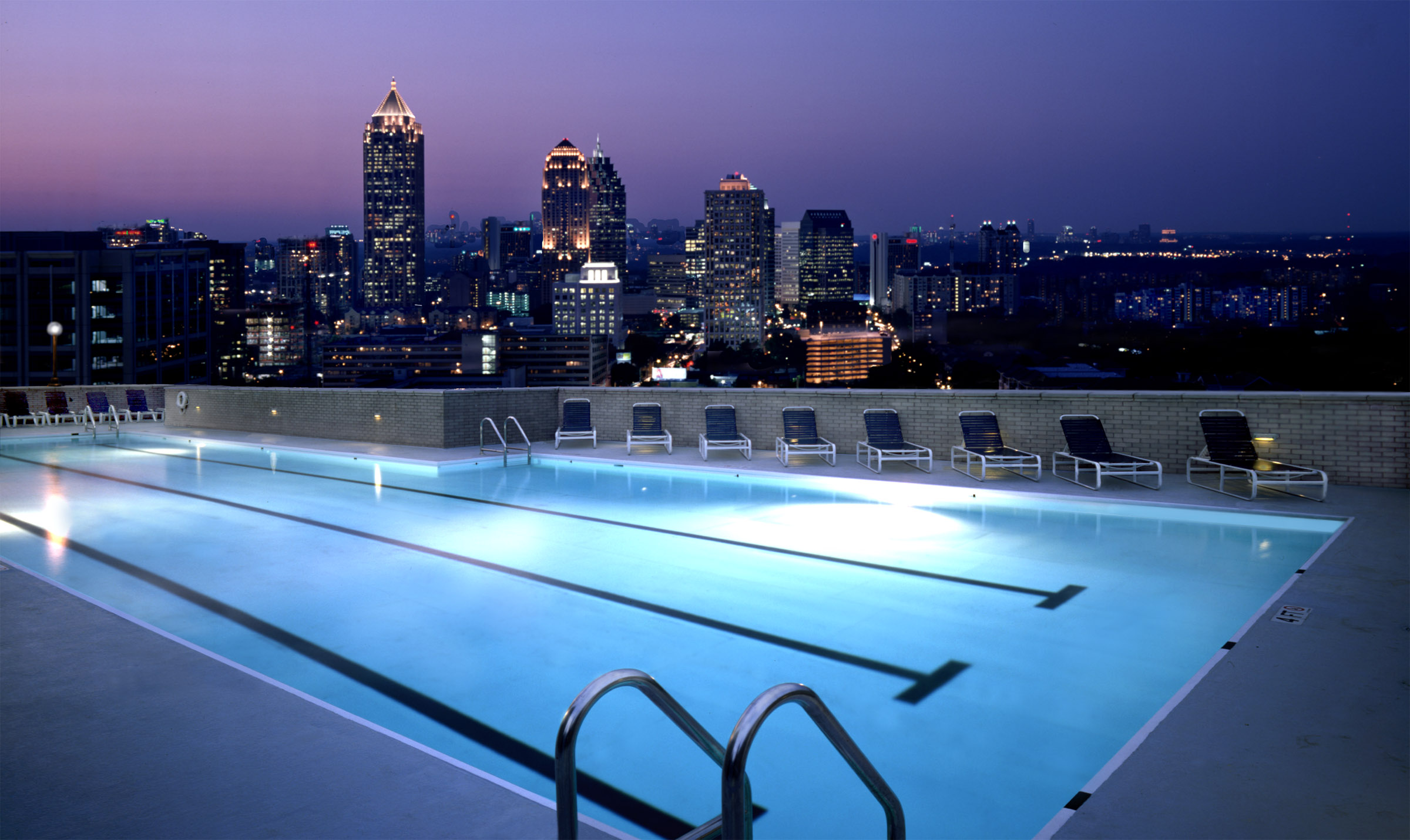 Rooftop Pool At Night The Celebration Society