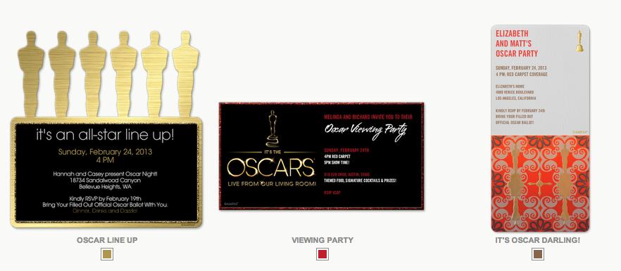 oscar party invites 2 The Celebration Society