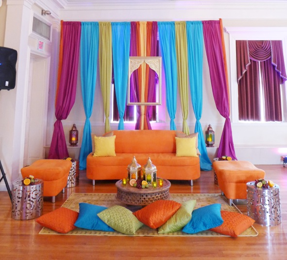Tangerine Sofa With Bench And Rose Table 2 Jpg