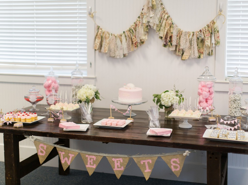 Good Pink And Gray Baby Shower