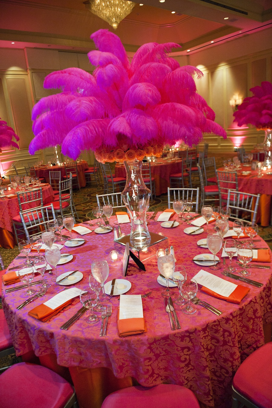 Hot Pink And Orange Bat Mitzvah The Celebration Society