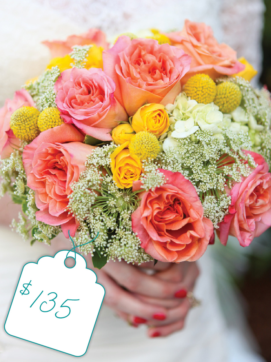 Pastel Bouquet of Yellow and Pink: Cost + Flowers - The Celebration ...