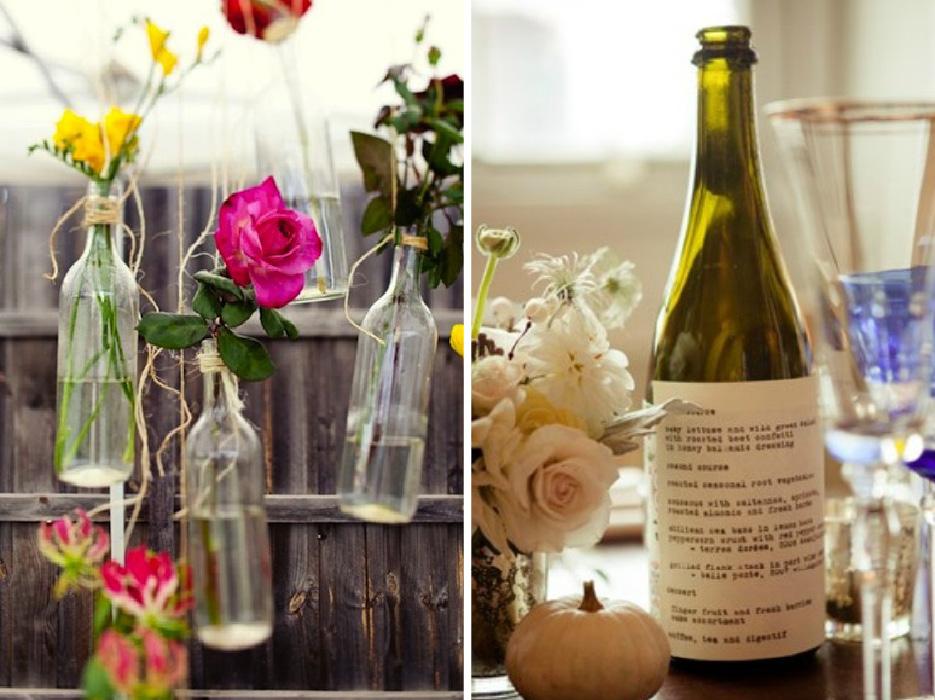 Wine Bottle Wedding Decorations Captivating Winebottledecor  The Celebration Society Decorating Inspiration