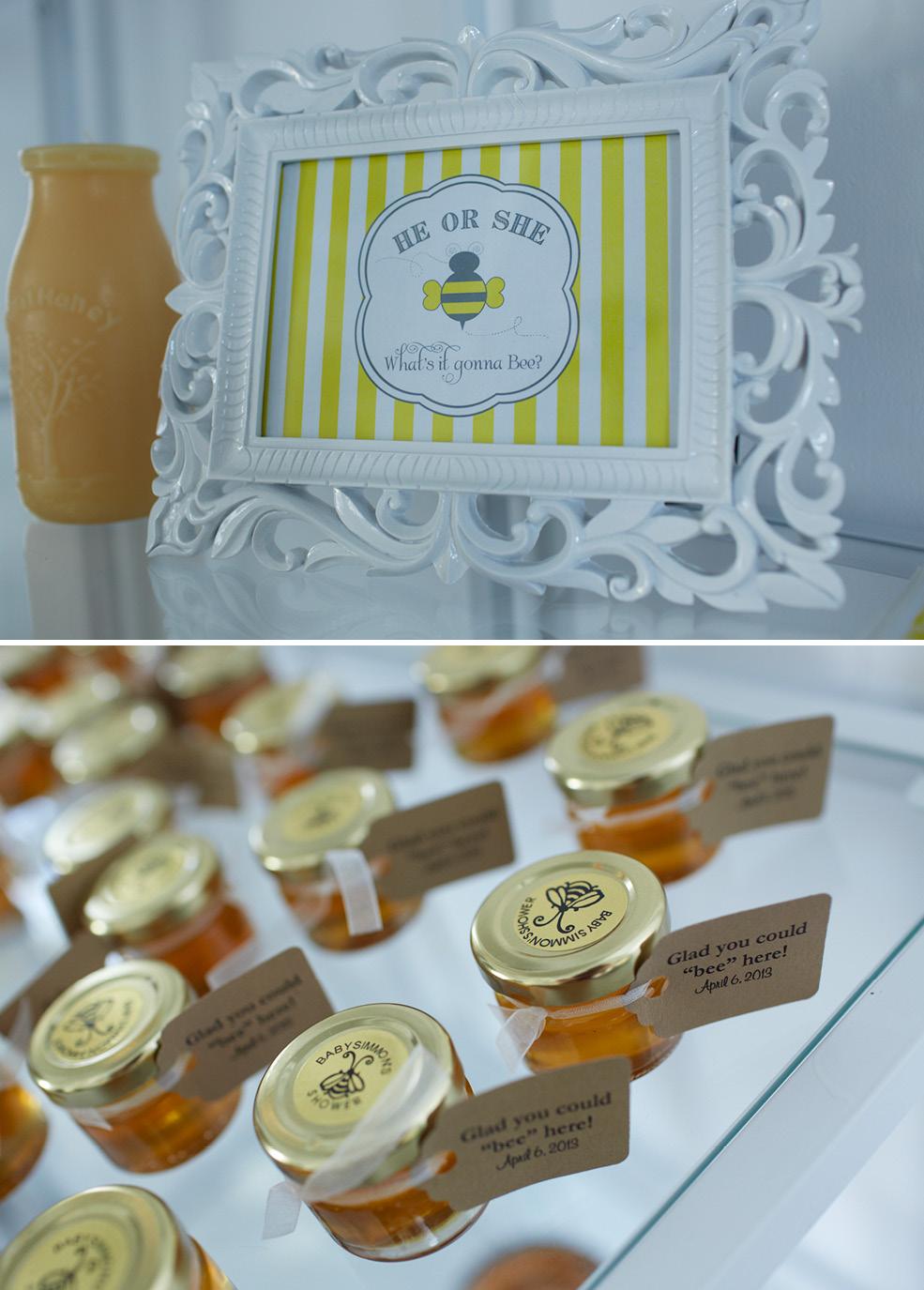 Bee Themed Baby Shower Honey Favors The Celebration Society