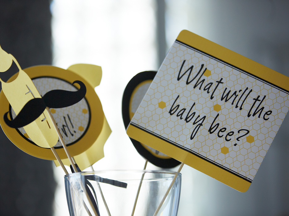 Bumble Bee Themed Gender Reveal Party - The Celebration ...