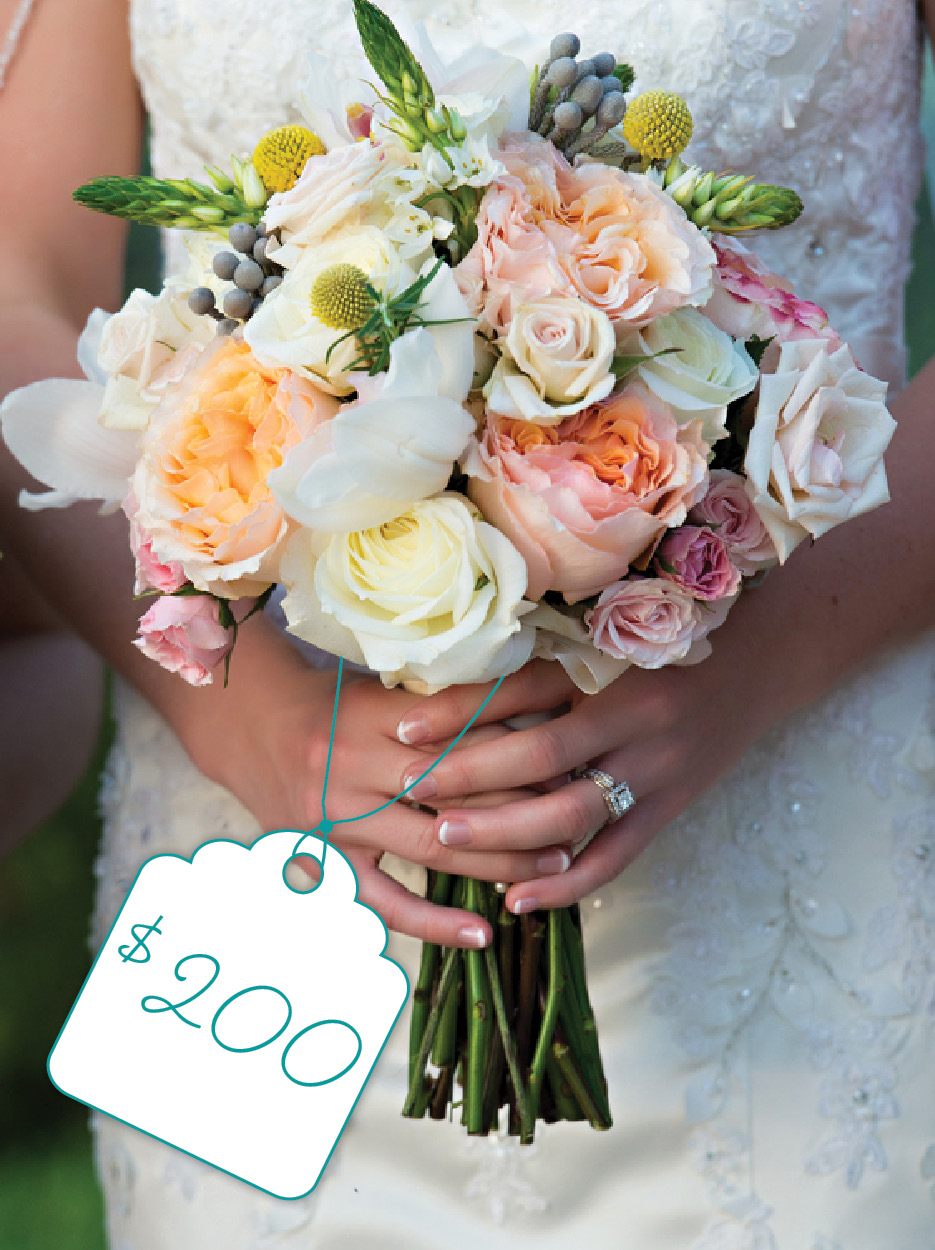 soft pastel bouquet of white pink and orange flowers cost flower types the celebration. Black Bedroom Furniture Sets. Home Design Ideas