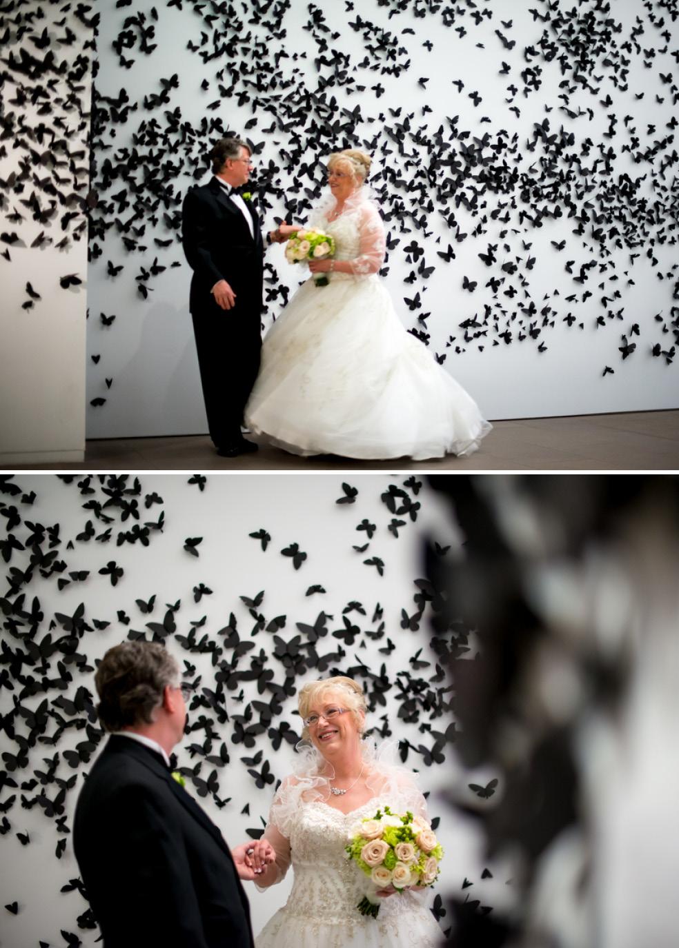 phoenixartmuseumweddingbirdsweddingcouple the