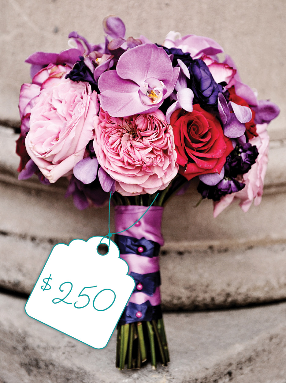 Elegant Pink And Purple Bouquet Cost Flowers