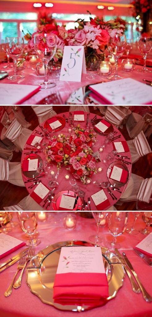 Primrose Cottage Wedding Reception Pink Floral Centerpieces Table