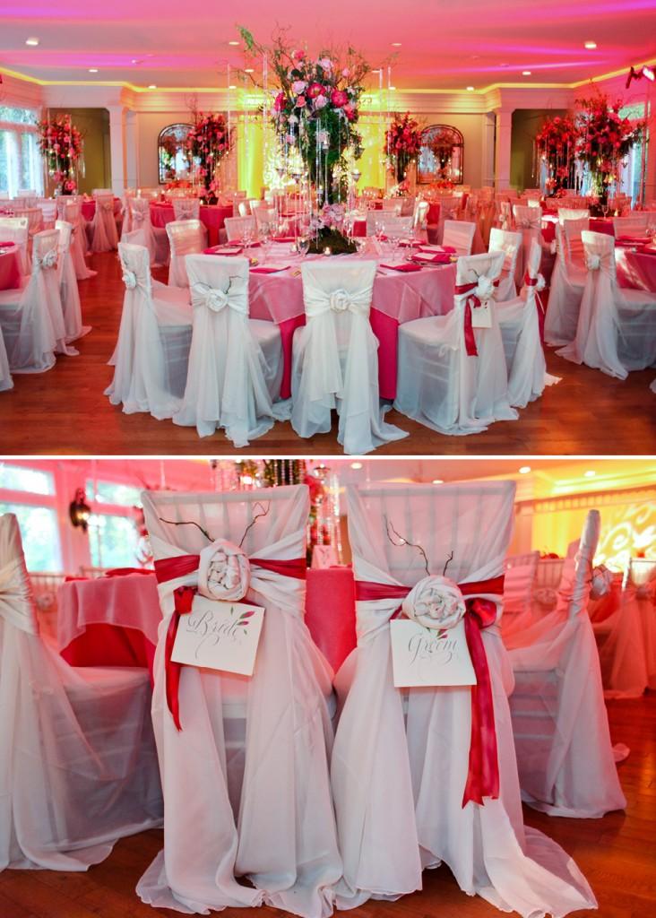 Primrose Cottage Wedding Reception Pink Black Decor The