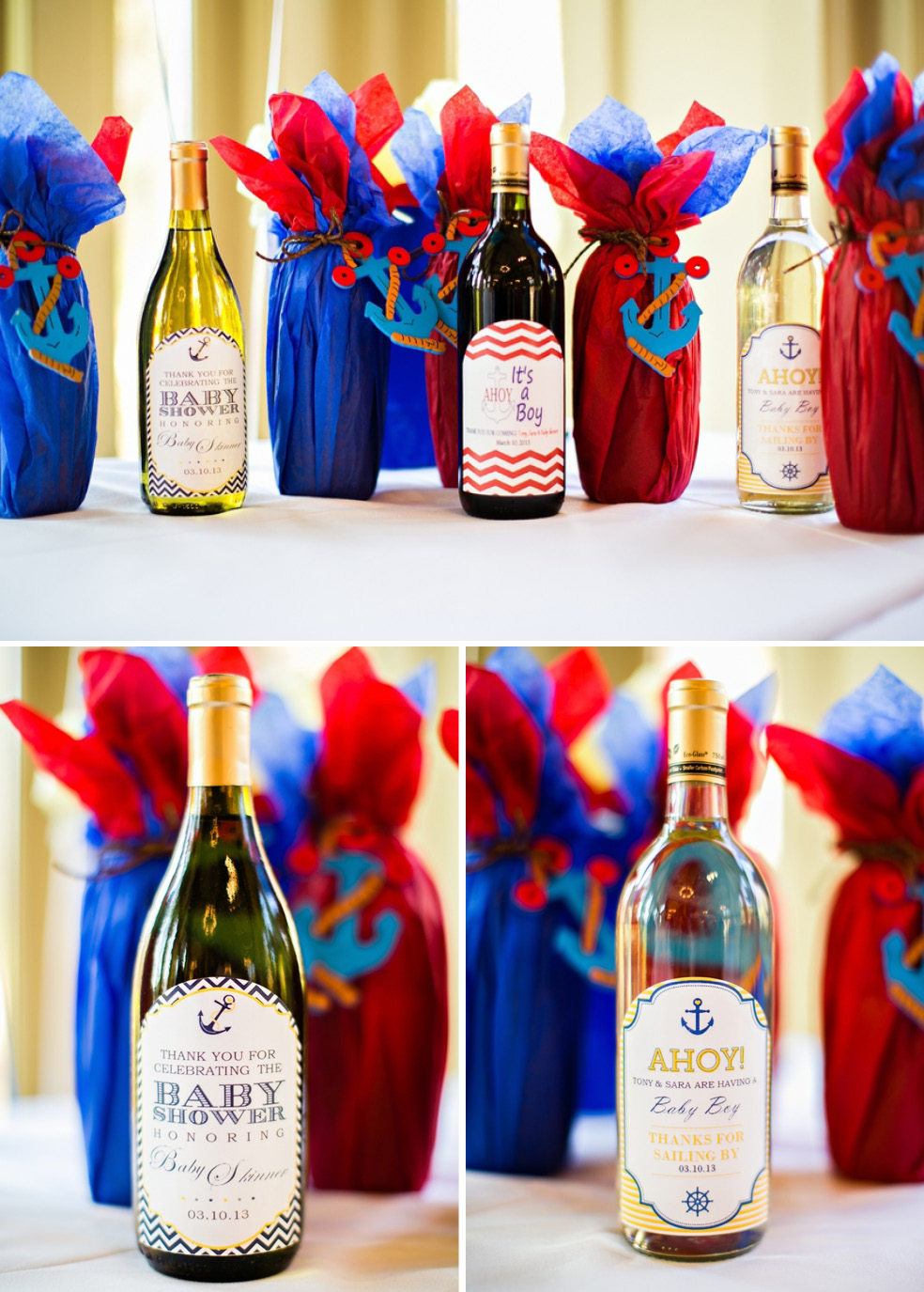 Sailor Baby Shower Drinks