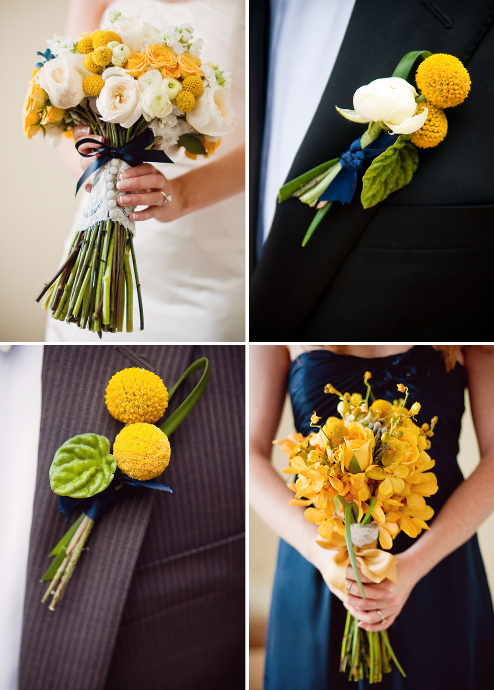 Wedding Flowers Craspedia Billy Balls Yellow The Celebration Society