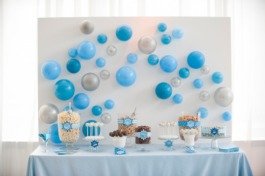Blue Pop Themed Baby Shower The Celebration Society