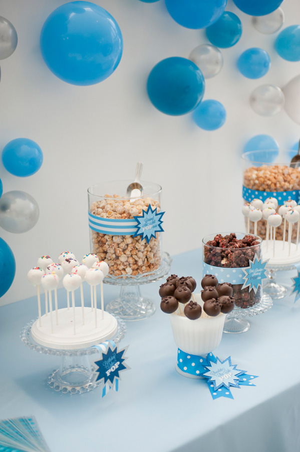 Blue Pop Themed Baby Shower Robinnathanphotography