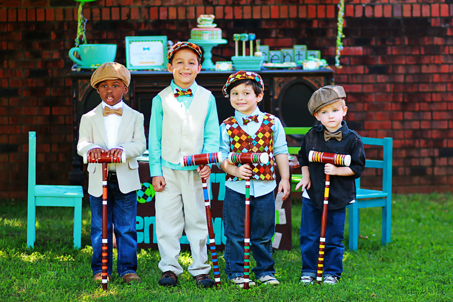 Little Gentlemen S Outdoor Tea Party The Celebration Society