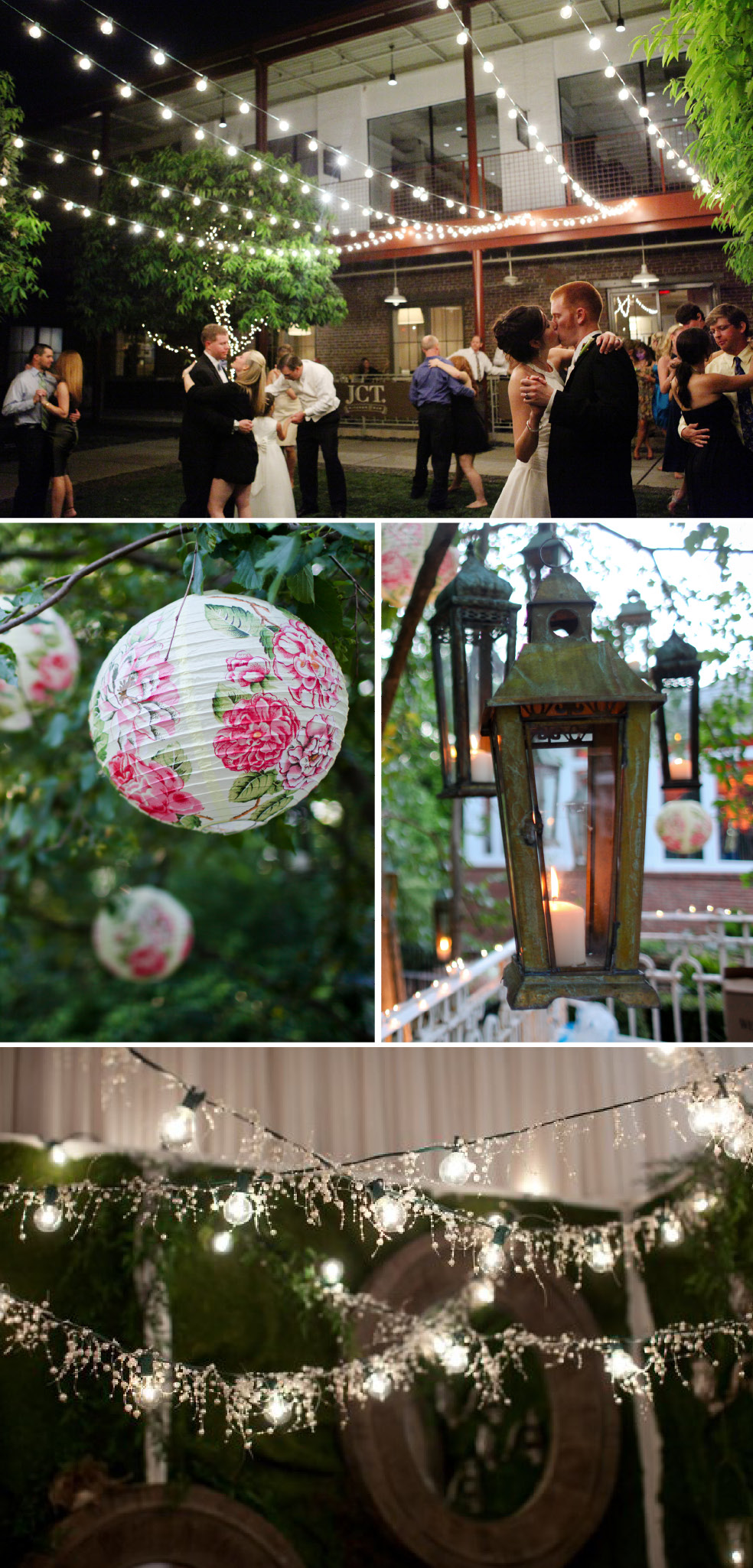 Hanging Lights Lanterns At Wedding Receptions The