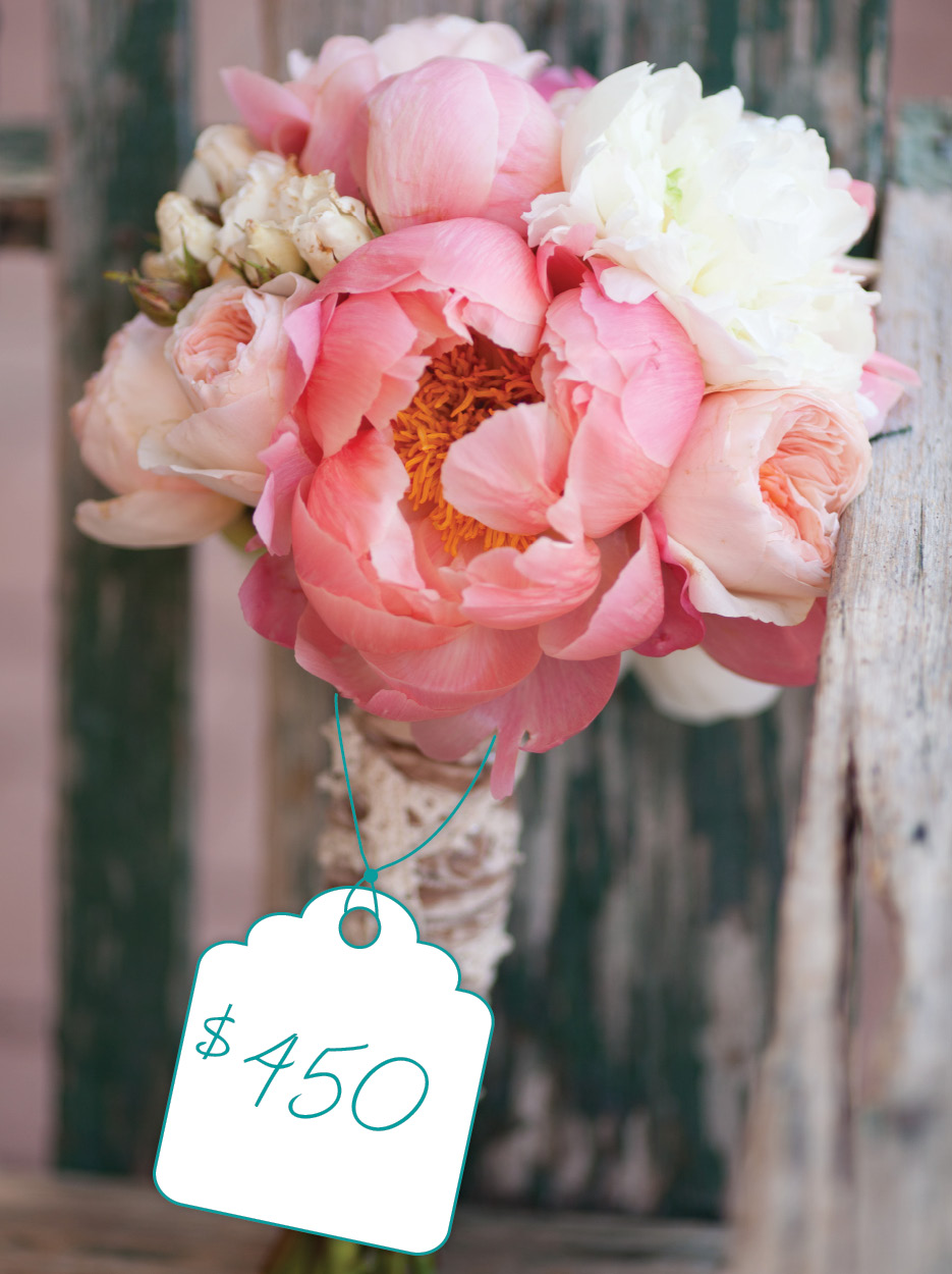 Classic Bouquet of Pink, Coral, and White Flowers: Cost + Flower ...