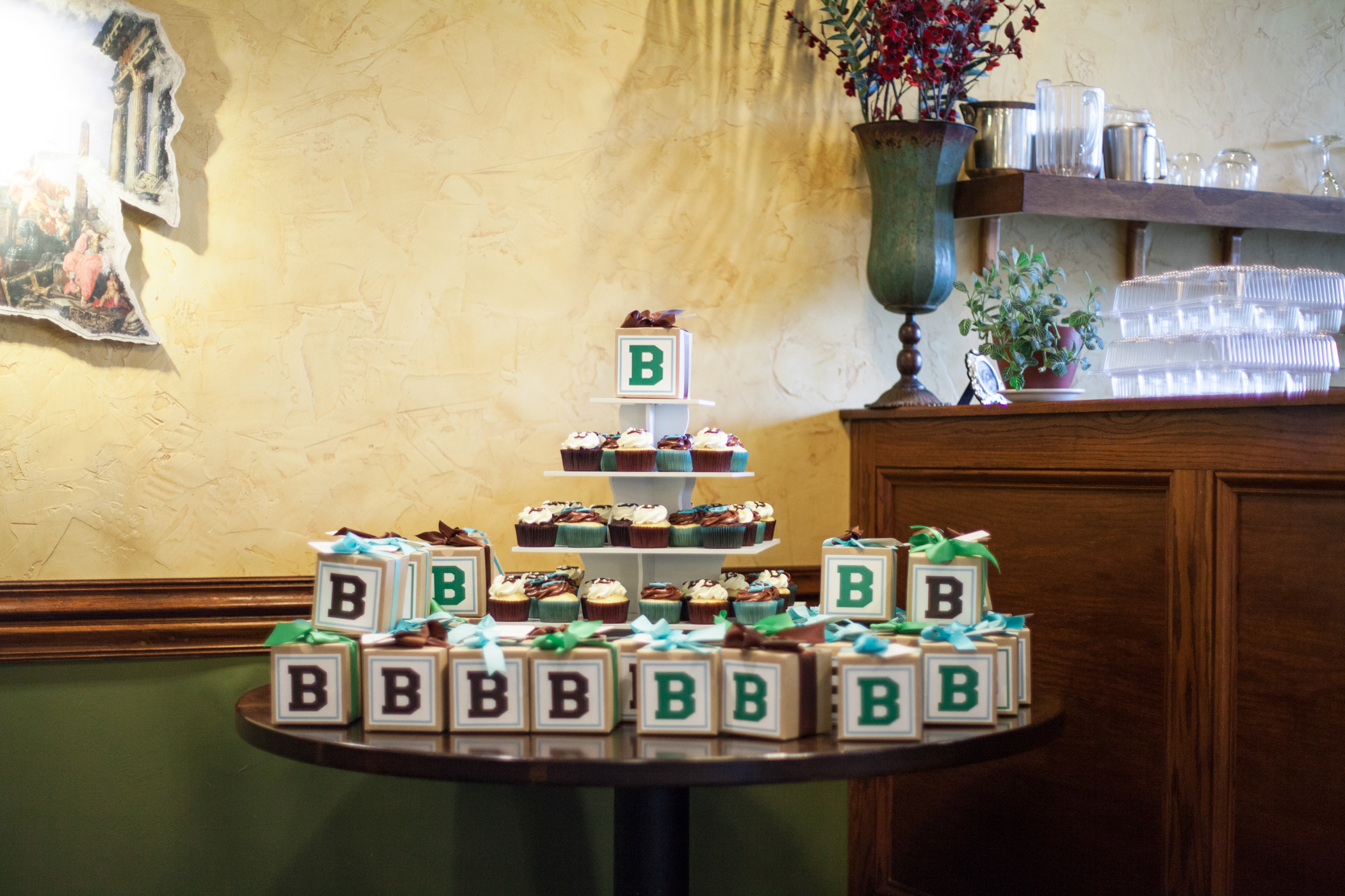 Brown Blue And Green Quot B Quot Themed Baby Shower The