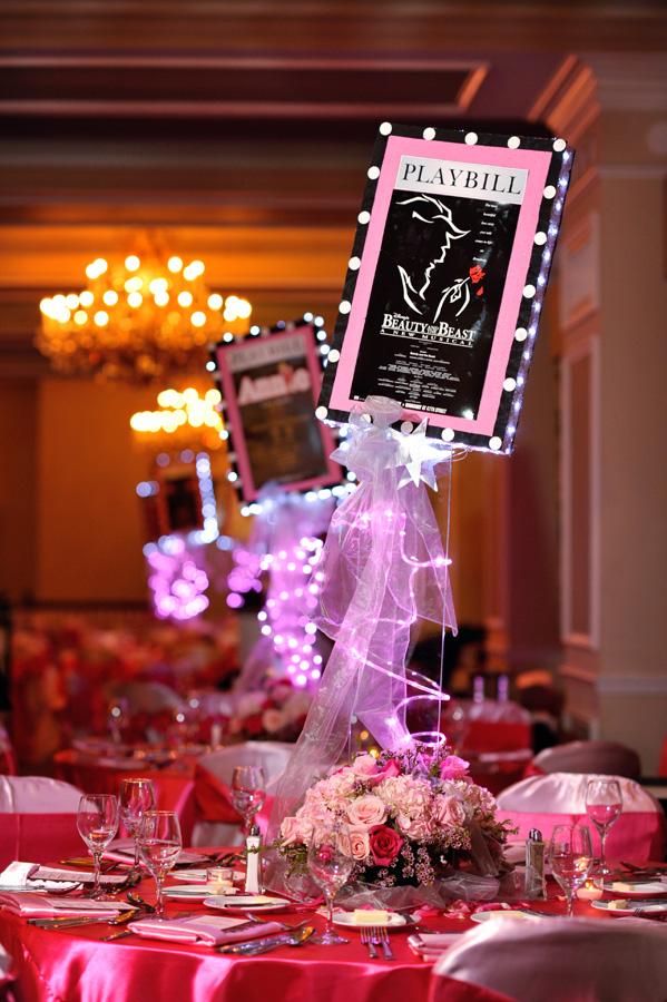 Pink Broadway Themed Bat Mitzvah Kismisinkphotography