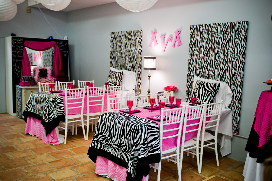 Pink And Zebra Print Daytime Slumber Party The