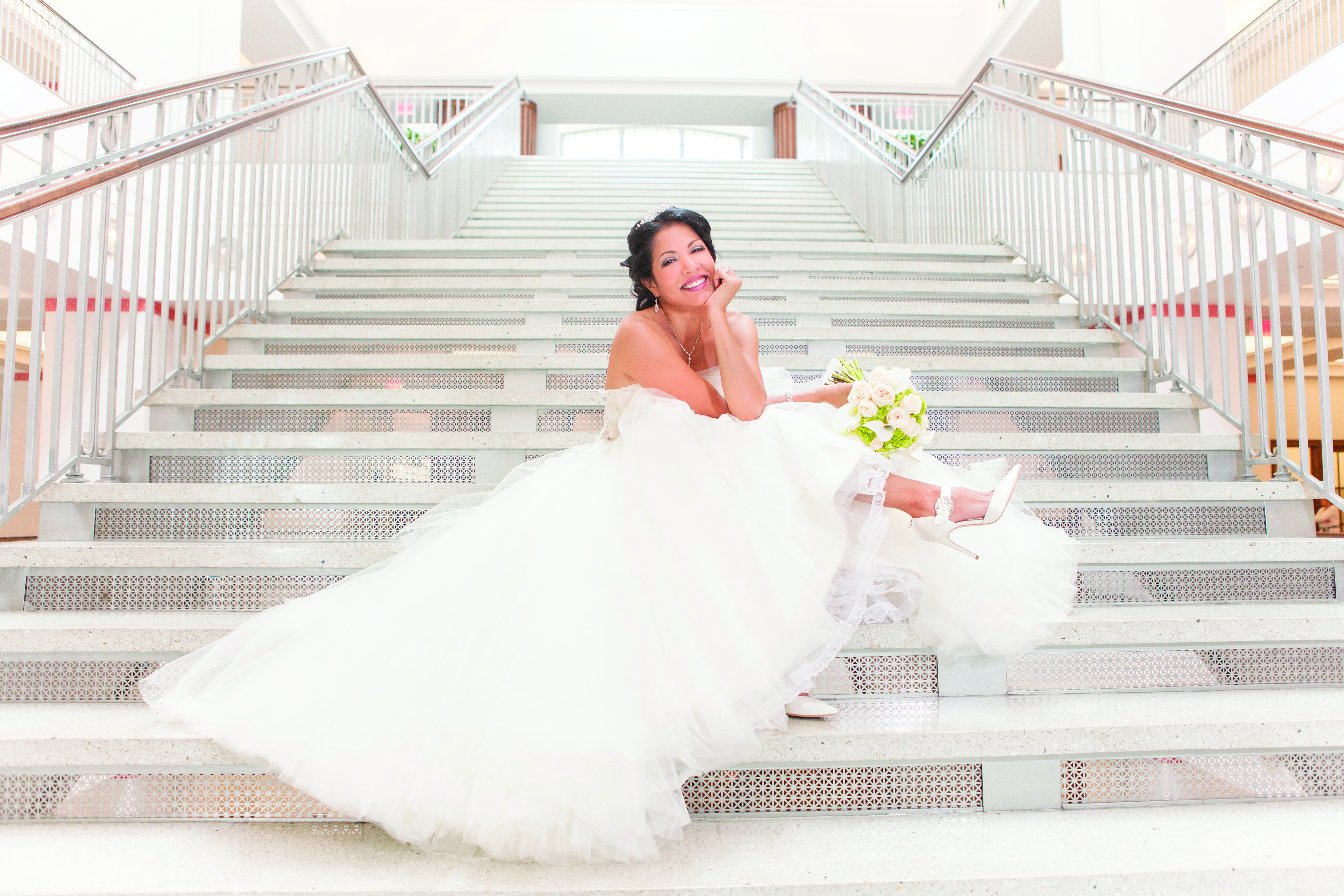 Vincent Pierce Photography Jpl Bride Stairs The