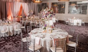Buckhead-DoubleTree-Atlanta-Georgia-Silver-Pink-Chilvari-Chairs-Drapery-Reception