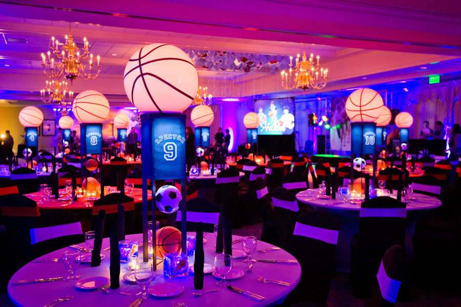 Basketball And Soccer Themed Bar Mitzvah The Celebration