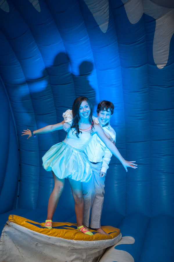Blue Green And Yellow Beach Ball Themed Bat Mitzvah