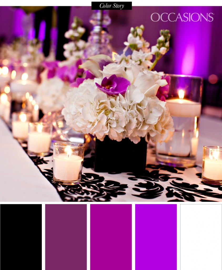 Sophisticated Black White And Purple Quinceanera The Celebration