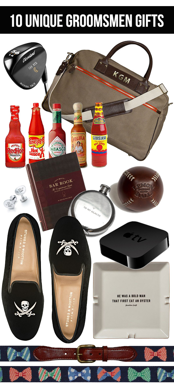 Mandy Kellogg Rye finds the 10 best groomsmen gift ideas.