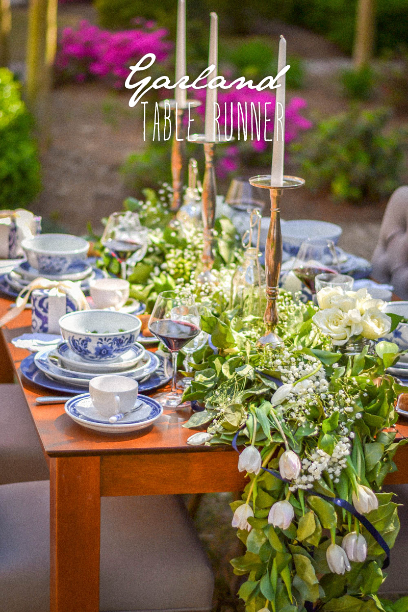 How To Create A Natural Garland Table Runner The