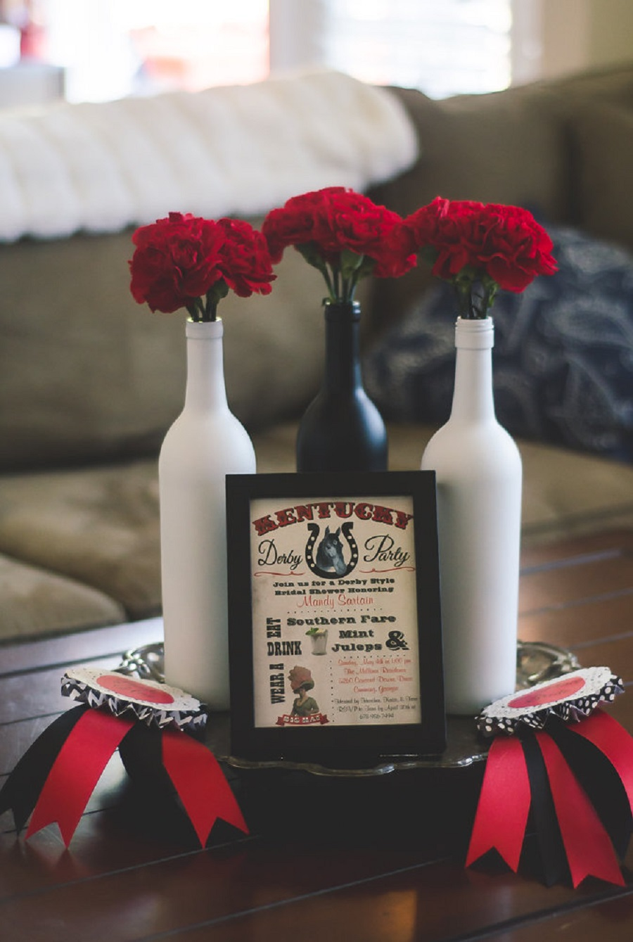 red and black kentucky derby bridal shower occasions