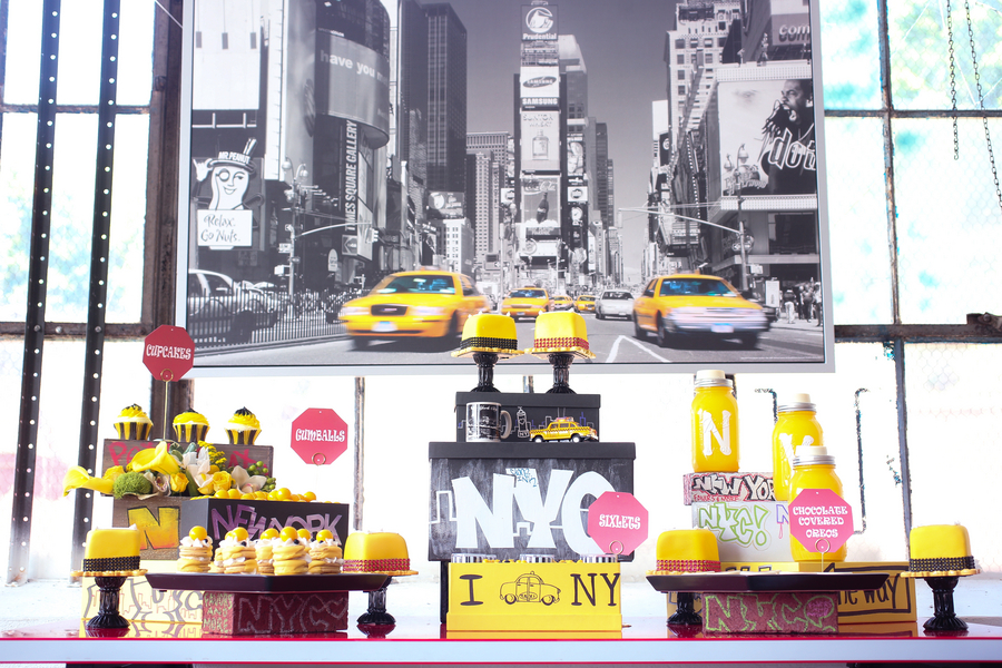 Yellow and black ny taxicab childrens party occasions junglespirit