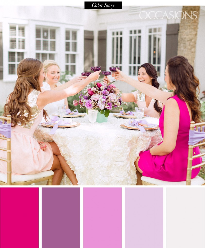 radiant orchid bridesmaids luncheon occasions